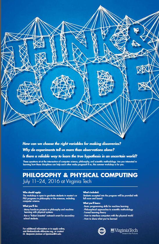 Philosophy Physical Computing Graduate Workshop At Vt Error Statistics Philosophy