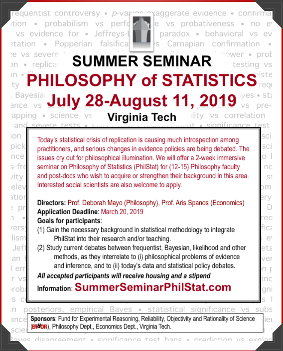 Summer Seminar Philstat July  2019 Ii Error Statistics Philosophy